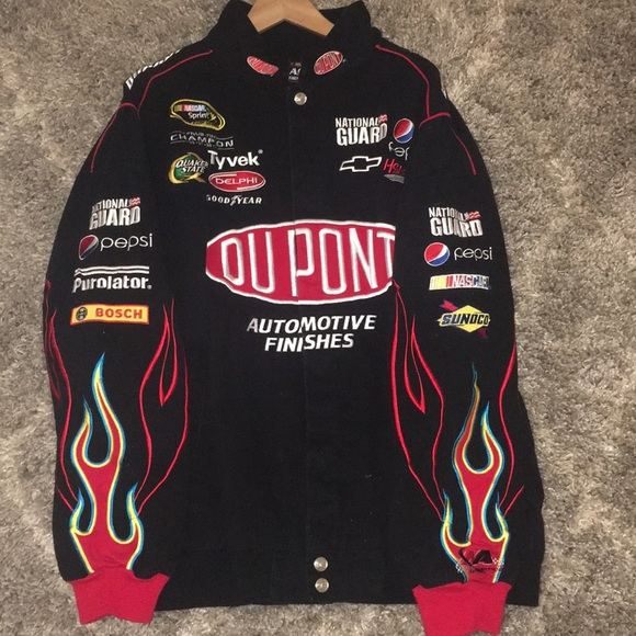 Jackets Coats Race Car Jacket With Flames Poshmark